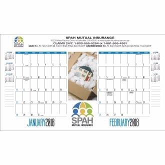 Triumph Desk Pad Calendar w/Custom Image, #657, 2 Colour Imprint