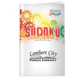 Sharper Minds Sudoku Challenge Puzzle Book - 1 Colour Imprint