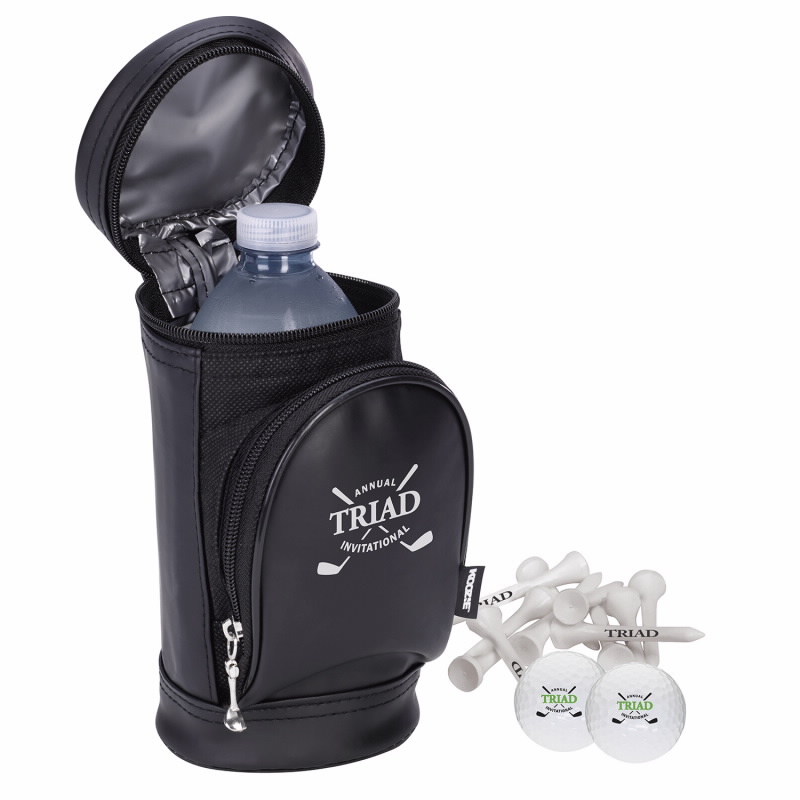 Koozie Golf Bag Kooler Kit w/Wilson Ultra 500 Golf Balls, #62430, 1 Colour Imprint