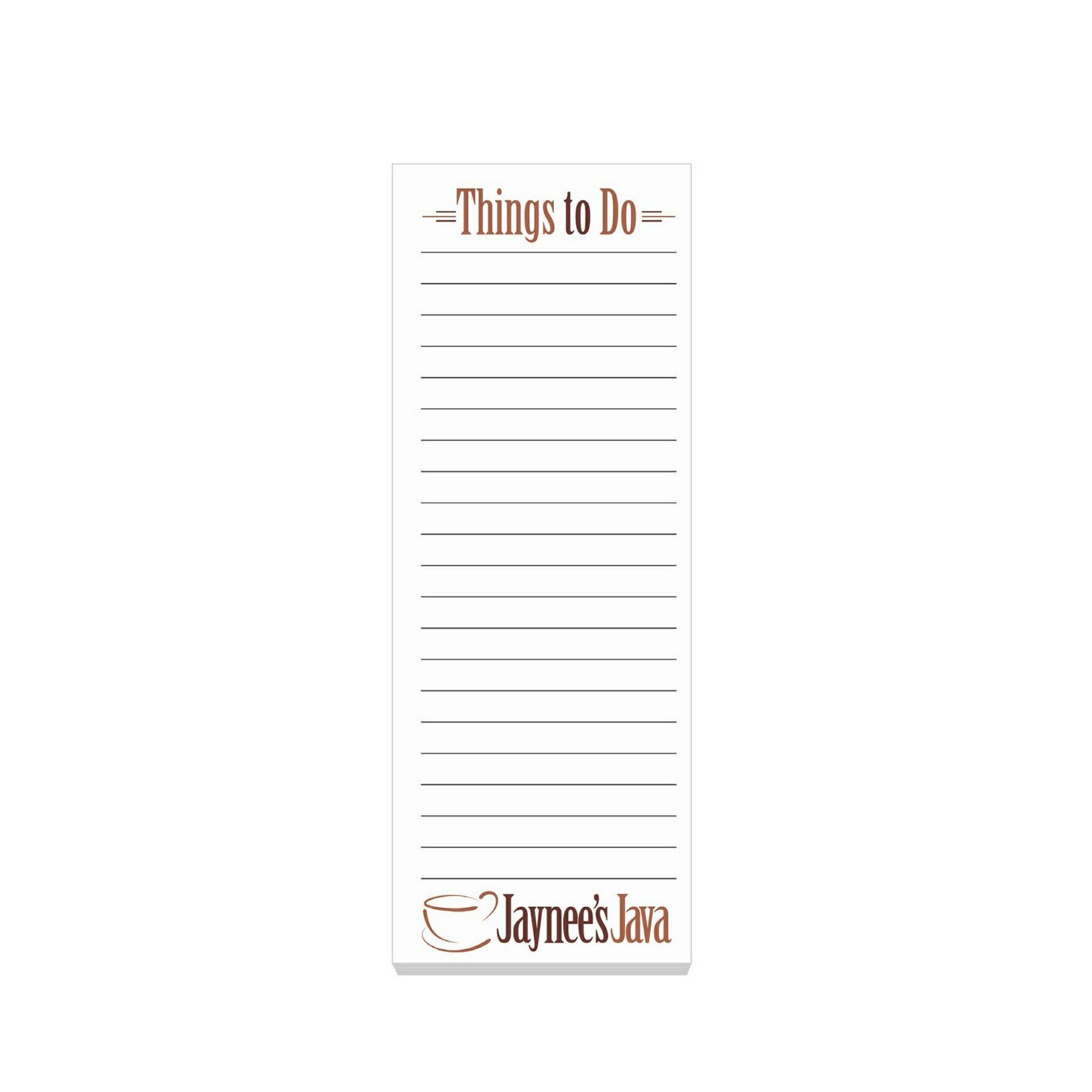 "BIC 3""x8"" Adhesive Notepads - 50 Sheet Pad - Full Colour Imprint"