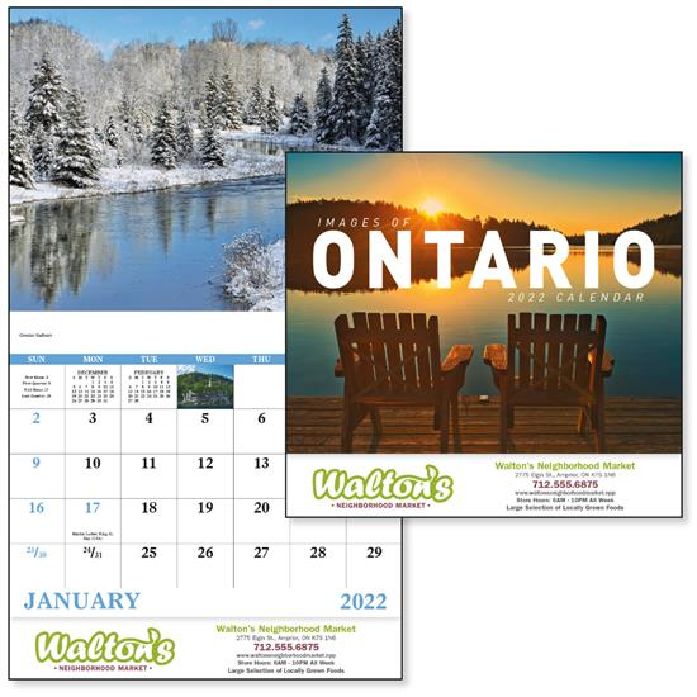 GoodValue Images of Ontario Calendar (Stapled), #7306, 1 Colour Imprint
