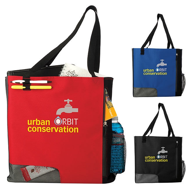 Atchison Standing Room Only Tote Bag - 1 Colour Imprint