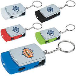 Swivel Tech Keychain - 1 Colour Imprint
