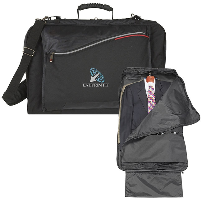 Atchison Quadruple Double Garment Bag - 1 Colour Imprint