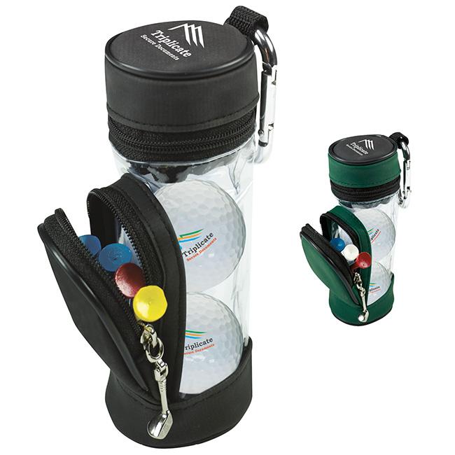 Mini Golf Bag w/3 Titleist DT TruSoft Golf Balls & 5 Tees, #60015, 1 Colour Imprint