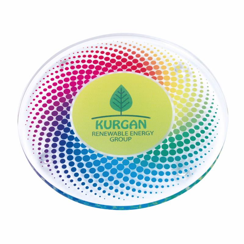 Round Acrylic Coaster - 1 Colour Imprint