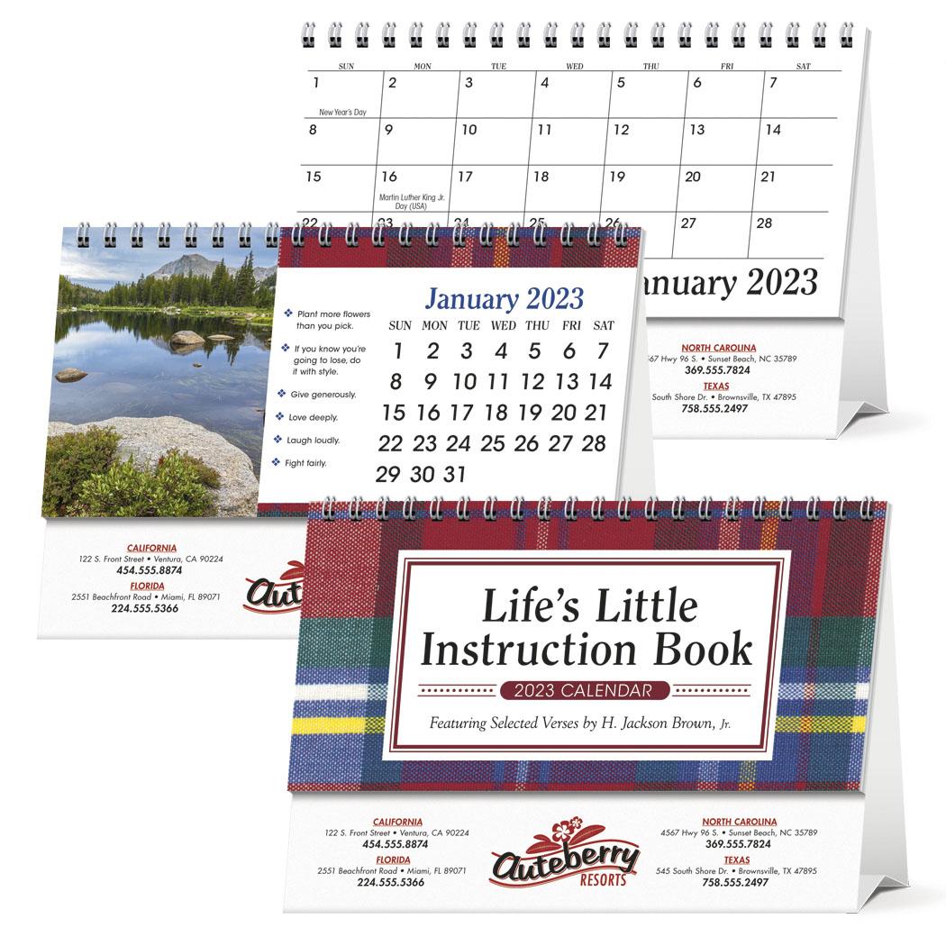 Triumph Life's Little Instruction Book Desk Calendar, #4253, 1 Colour Imprint