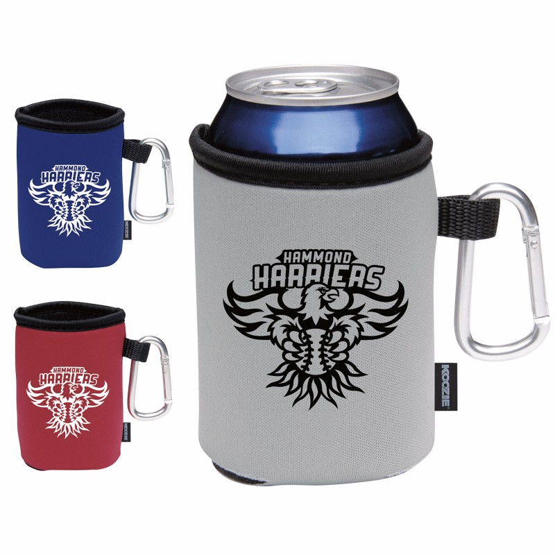 Koozie Collapsible Can Kooler w/Carabiner - 1 Colour Imprint, #45822