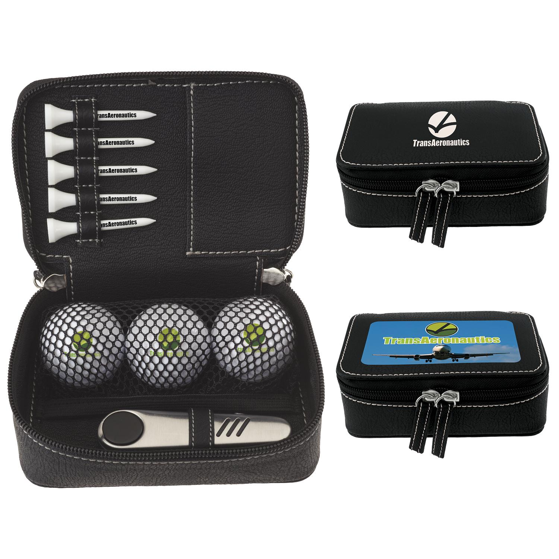 Zippered Golf Gift Kit w/Callaway Warbird 2.0 Golf Balls, #62179, 1 Colour Imprint