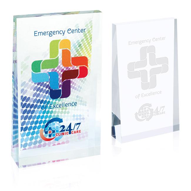 Jaffa Small Acrylic Wedge Award - Laser Engraved Imprint