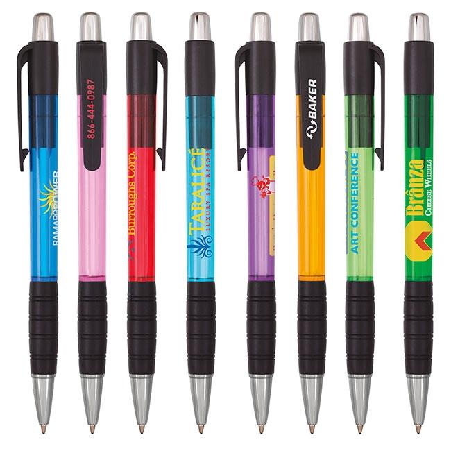 Black Trim Element Pen - 1 Colour Imprint