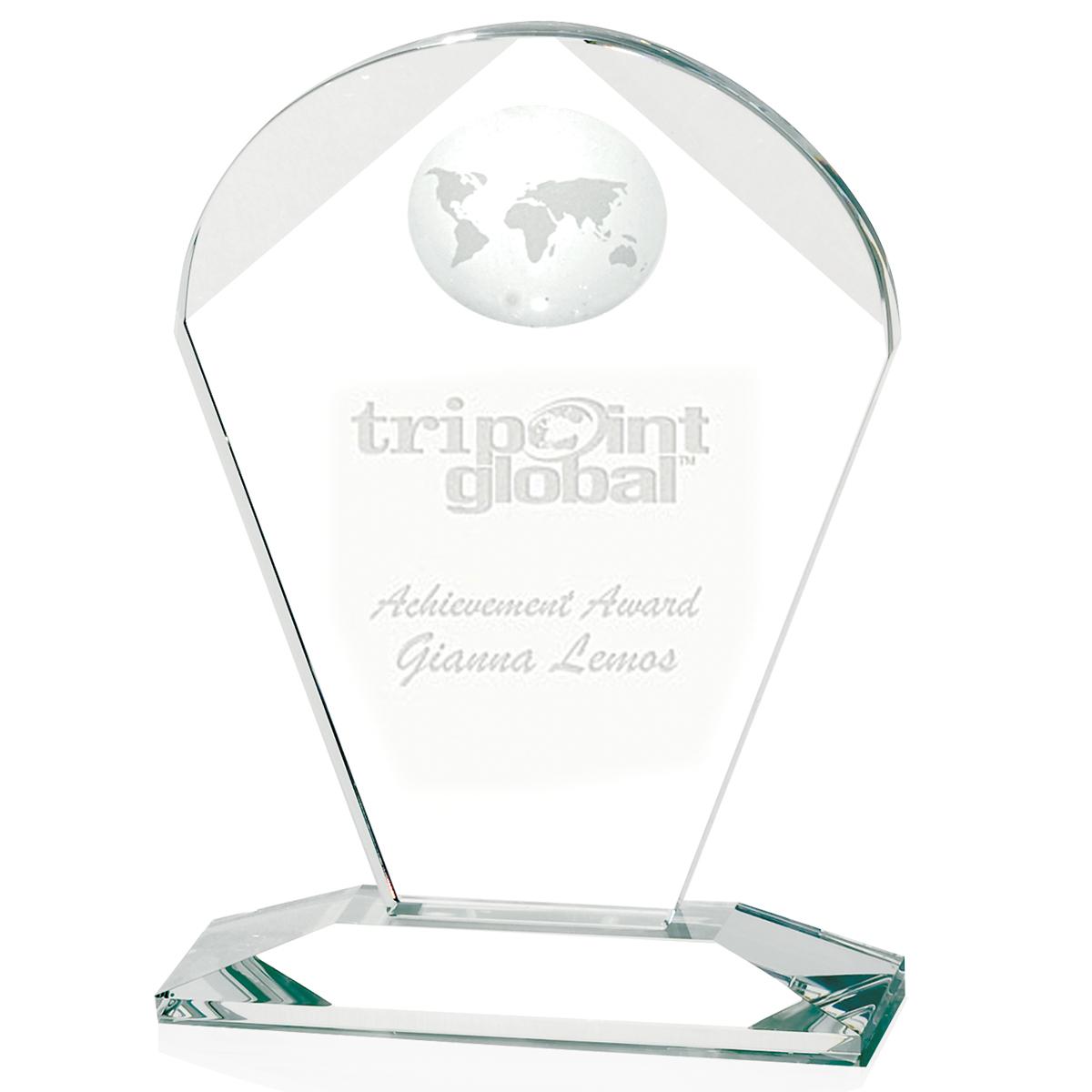 Jaffa Geodesic Small Award - Deep Etch Imprint, #35070
