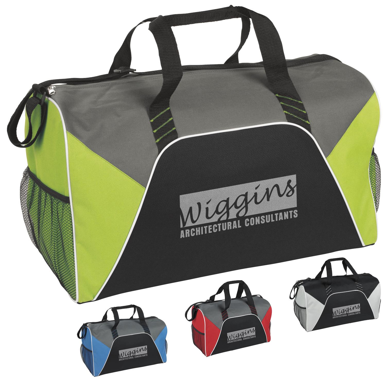 Color Panel Sport Duffel Bag - 1 Colour Imprint