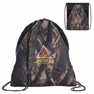 GoodValue Camouflage Drawstring Backpack - 1 Colour Imprint