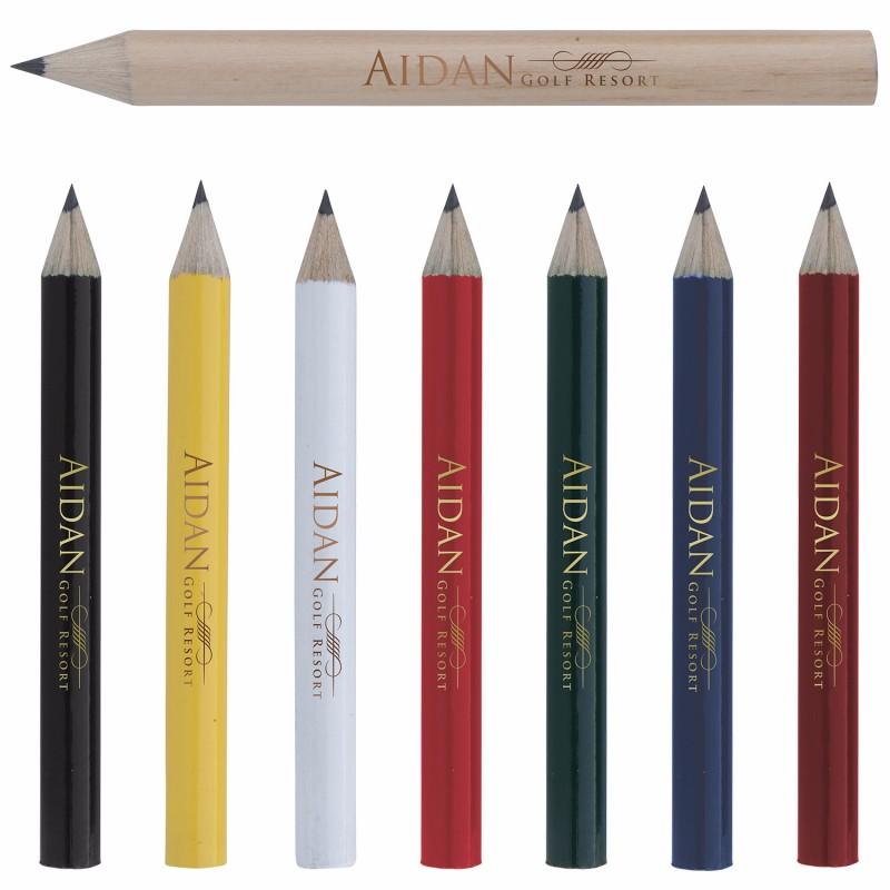 Round Golf Pencil, #62511, 1 Colour Imprint