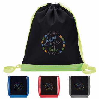 Color Flip Drawstring Backpack - 1 Colour Imprint