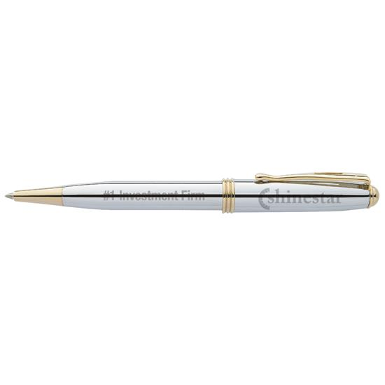 BIC Select Worthington Chrome Ballpoint Pen - Laser Engraved Imprint, #WCCB