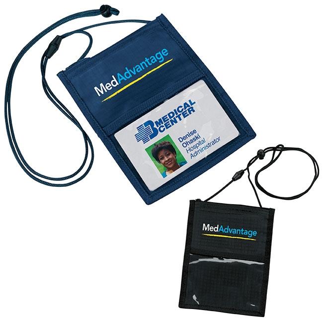 Crystal Line Neck Wallet - 1 Colour Imprint