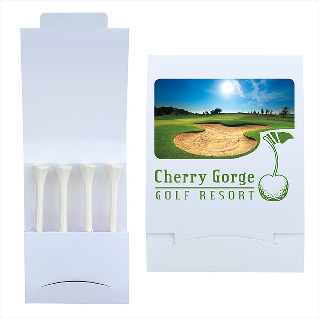 4 Teecil Golf Tee Packet - Full Colour Imprint
