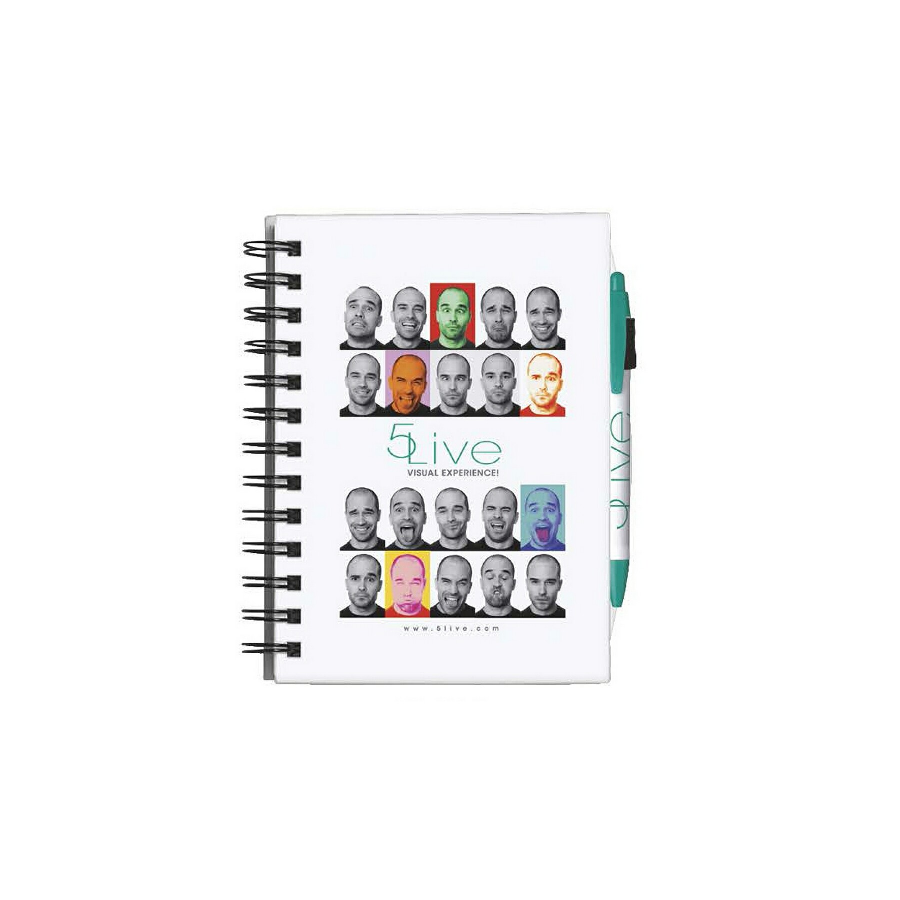 BIC 4-Color Process Chipboard Cover Notebook - Full Colour Imprint