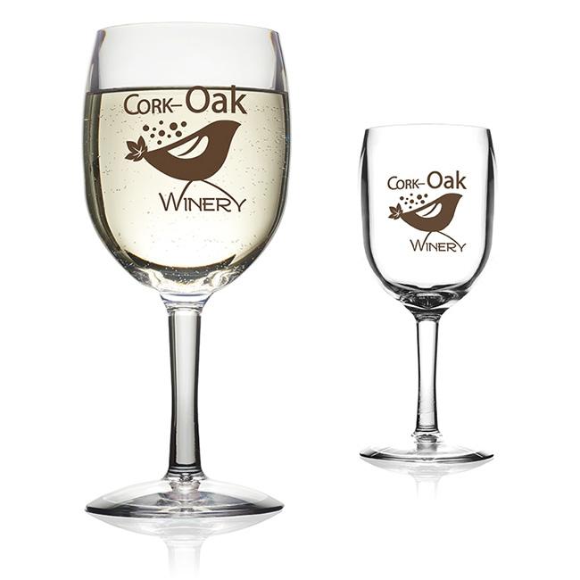 pubWARE 12 Oz. Stemmed Wine Glass - 1 Colour Imprint