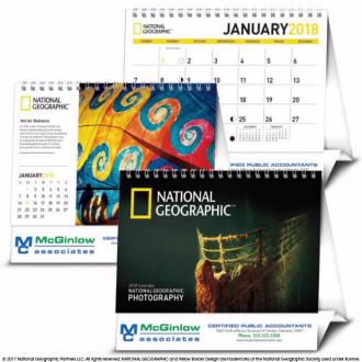 Triumph National Geographic Photography Large Desk Calendar, #4274, 1 Colour Imprint