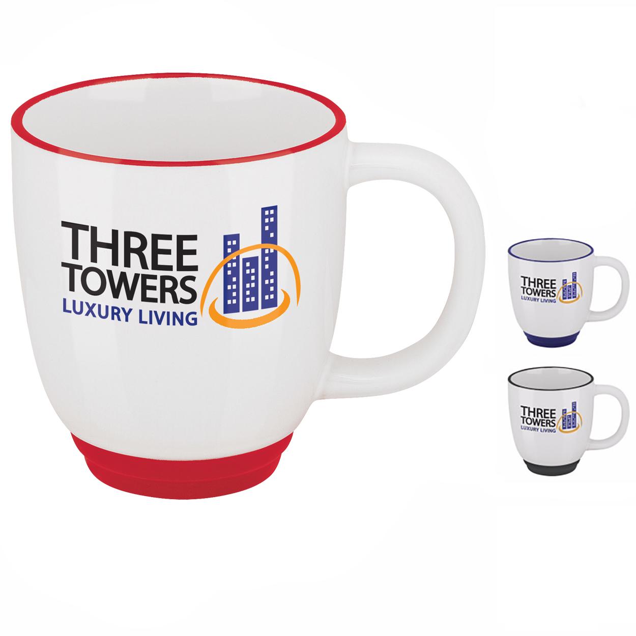 14 Oz. Two-Tone Bistro Mug - 1 Colour Imprint, #45127