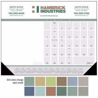 Triumph Ideas Desk Pad Calendar w/Vinyl Corners, #6526, 1 Colour Imprint