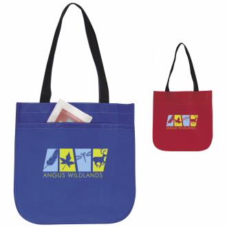 Atchison Circle Tote Bag - 1 Colour Imprint