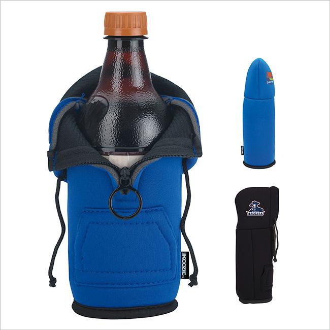 Koozie Hoodie Bottle Cooler - 1 Colour Imprint