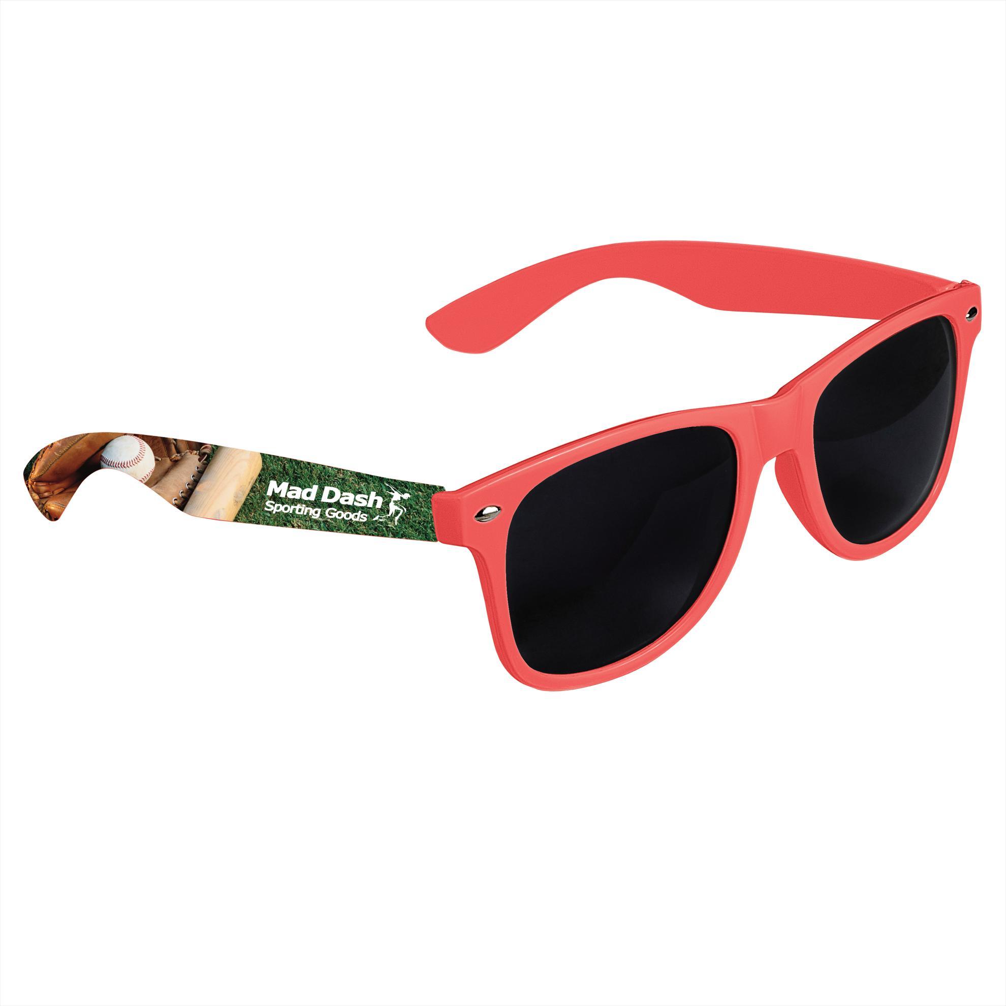 GoodValue Cool Vibes Dark Lens Sunglasses (Full Color), #26051, Full Colour Imprint
