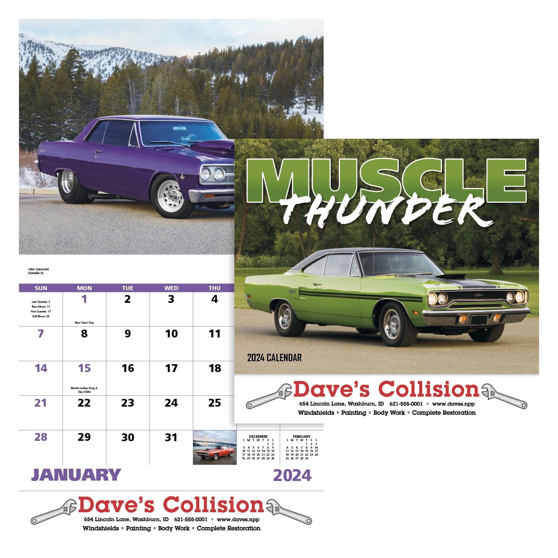 GoodValue Muscle Thunder Calendar (Stapled), #7205, 1 Colour Imprint
