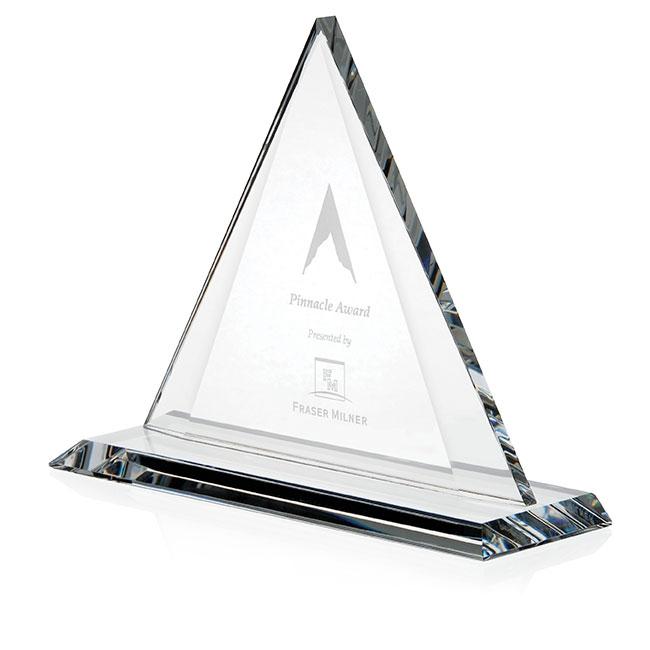 Jaffa Crystal Triangle Award - Deep Etch Imprint, #35262