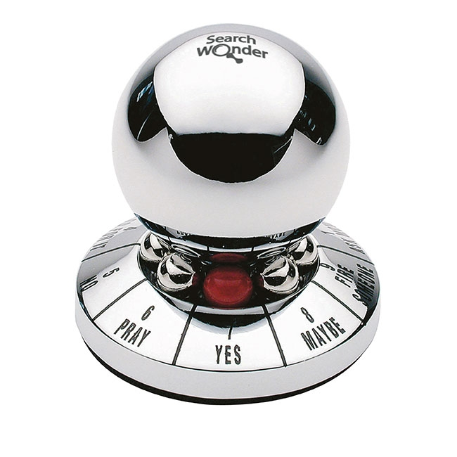 Ball Decision Maker Paperweight - Laser Engraved Imprint