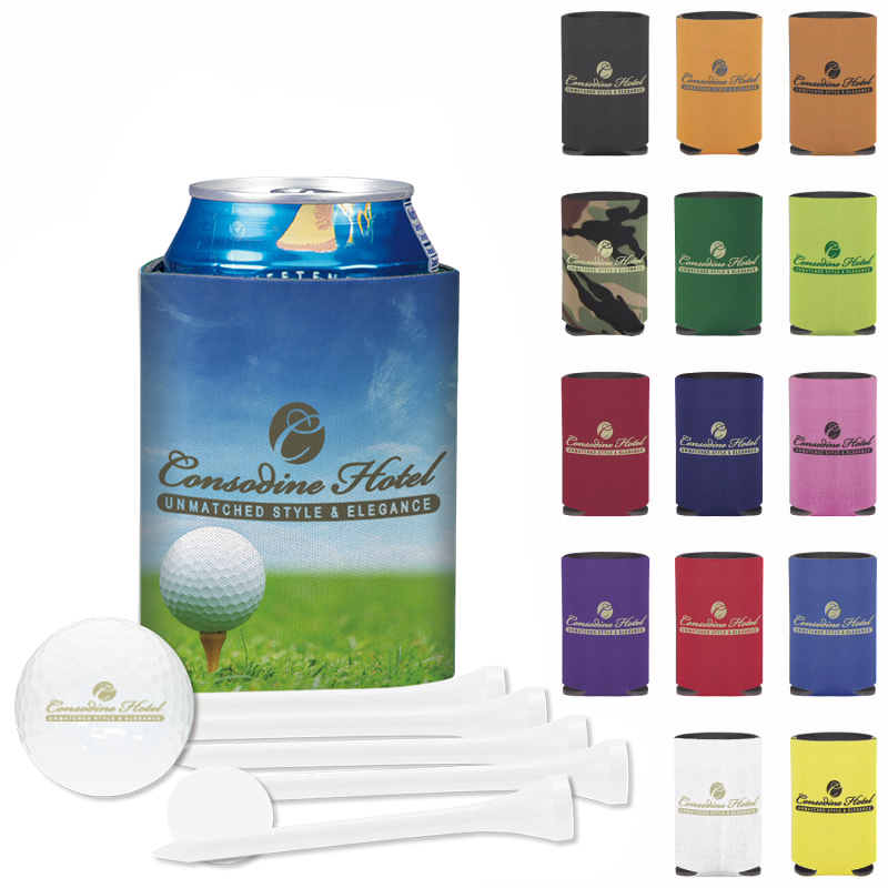 Collapsible Koozie Deluxe Golf Event Kit w/ Callaway Warbird 2.0 Golf Ball, #62176, 1 Colour Imprint