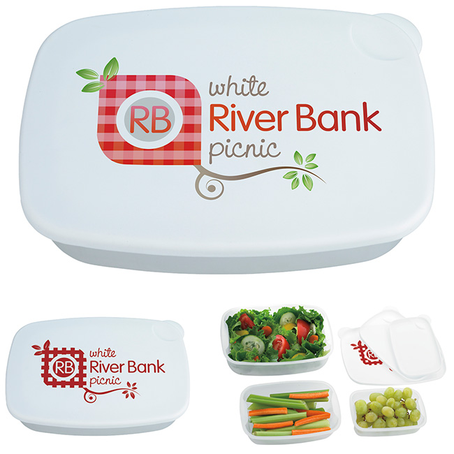 3-Pack Food Container - 1 Colour Imprint