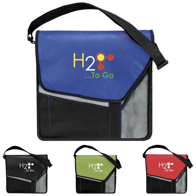 Atchison Slant Flap Messenger Bag - 1 Colour Imprint