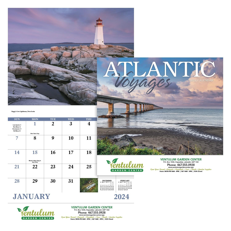 GoodValue Atlantic Voyages Calendar (Stapled), #7310, 1 Colour Imprint