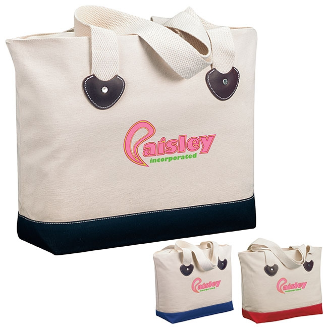 Zippered Boat Tote Bag - 1 Colour Imprint