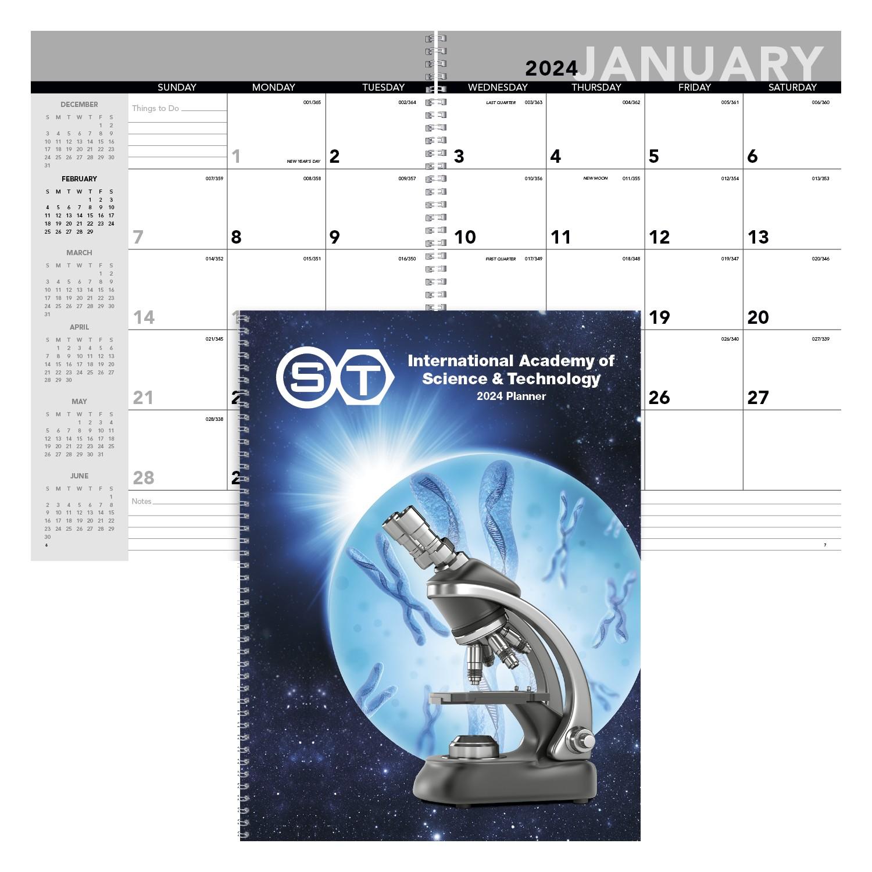 Triumph Standard Year Desk Planner w/Custom Cover, #820, Full Colour Imprint