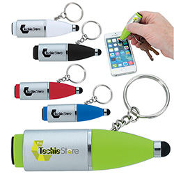 Twist Tech Keychain - 1 Colour Imprint