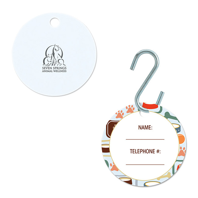 Small Circle Pet ID Tag - Full Colour Imprint