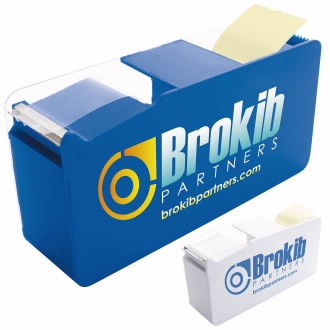GoodValue Double Memo Tape Dispenser, #32044, 1 Colour Imprint