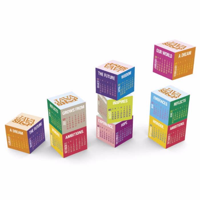 Triumph Magnetic Cube Calendar, #5807, 1 Colour Imprint