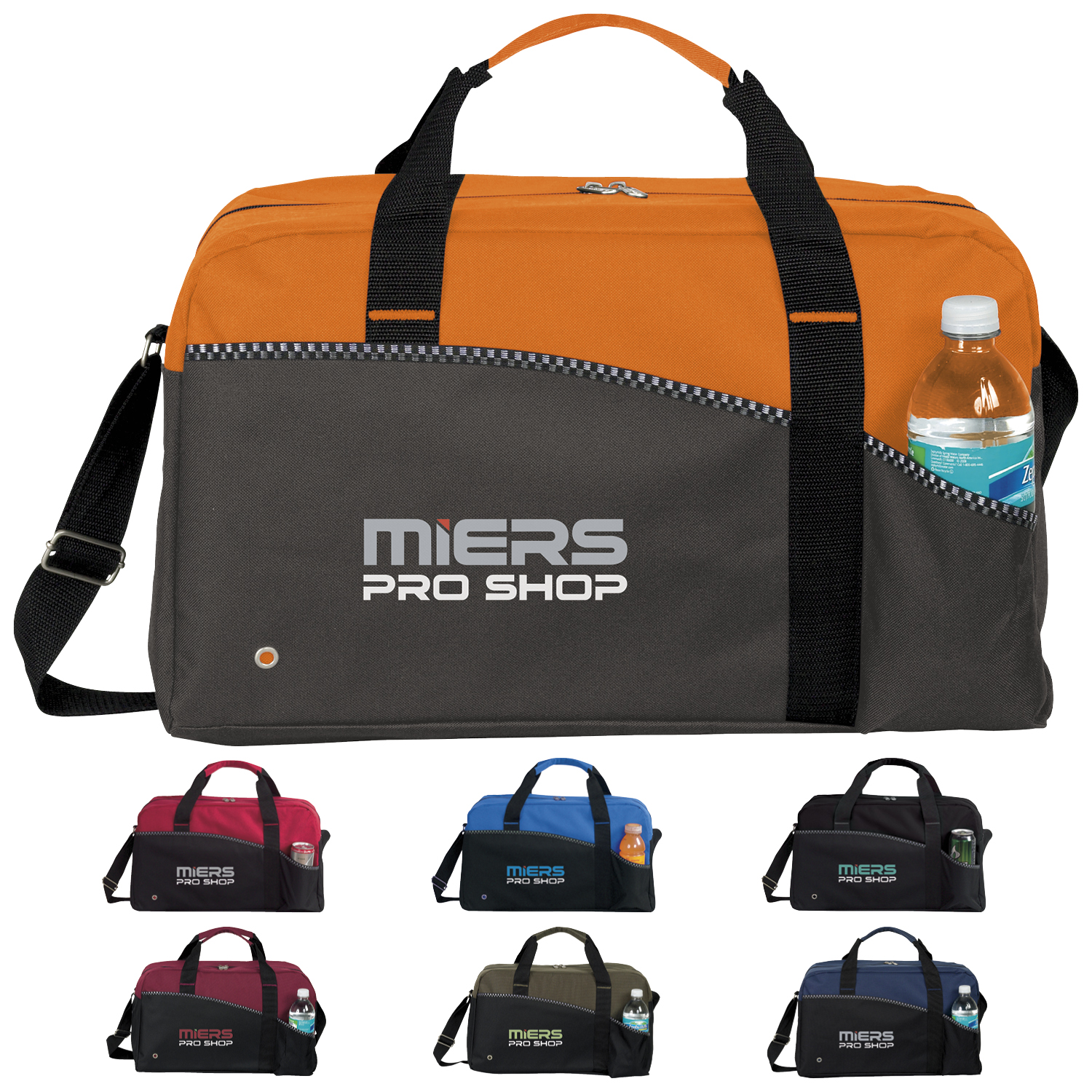 Atchison Center Court Duffel Bag - 1 Colour Imprint