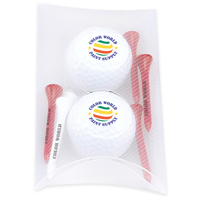 2 Ball Pillow Pack w/Titleist DT TruSoft Golf Balls, #60082, 1 Colour Imprint