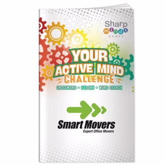 Sharp Minds Games: Your Active Mind Challenge - 1 Colour Imprint