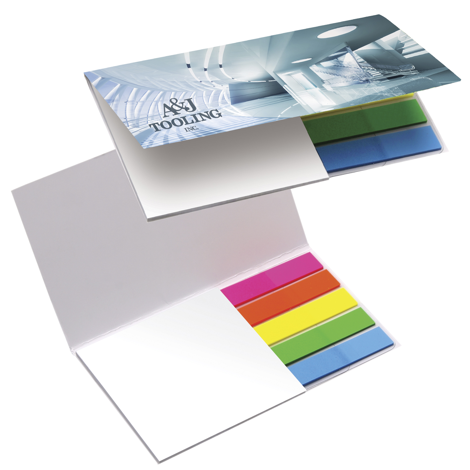 BIC Mylar Flag and Notepad Booklet - Full Colour Imprint