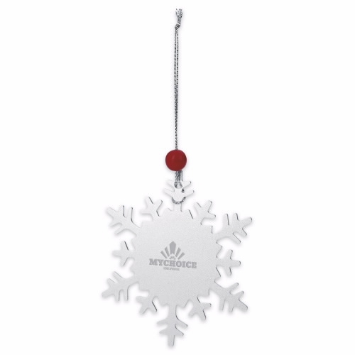 Snowflake Ornament - Laser Engraved Imprint