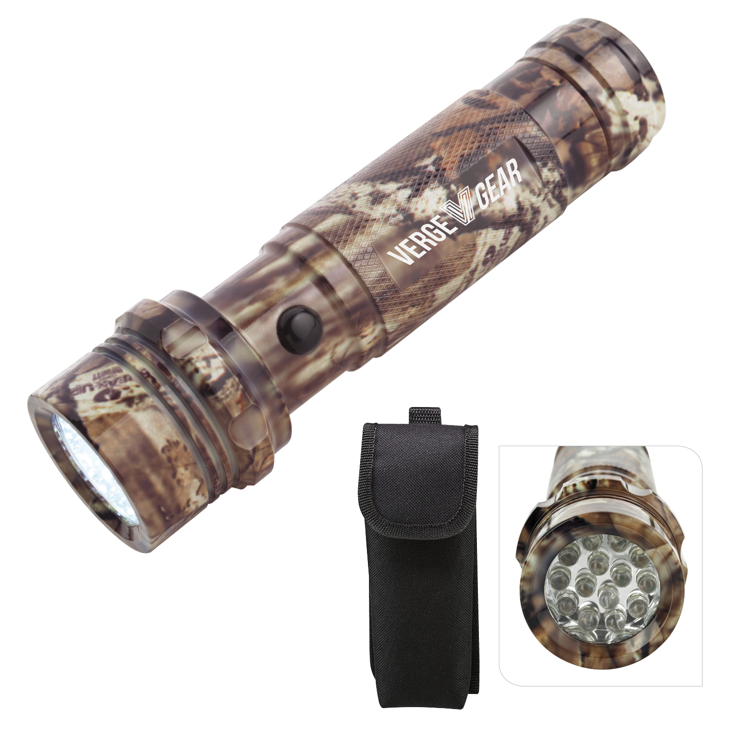 Mossy Oak Camouflage Aluminum LED Flashlight - Laser Engraved Imprint